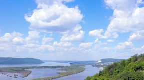 Russia, great river Volga Royalty Free Stock Images