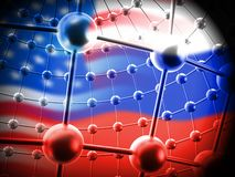 Russia Hacking American Elections Data 3d Illustration. Shows Kremlin Spy Hackers On Internet Attack Usa Election Security Or Cybersecurity vector illustration