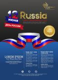 Russia happy independence Day background template for a poster leaflet and brochure stock illustration