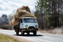 RUSSIA - hay carrier Stock Images