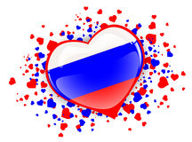 Russia Heart Stock Photography