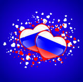 Russia Hearts Royalty Free Stock Photo