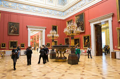 Russia. The Hermitage. Hall of  Italian art of 17-18 centuries. Stock Photography