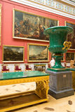 Russia. The Hermitage. Hall of  Italian art of 17-18 centuries. Stock Image