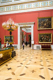 Russia. The Hermitage. Hall of  Italian art of 17-18 centuries. Royalty Free Stock Photography