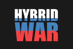 Russia and hybrid war and warfare vector illustration