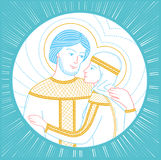 In Russia Icon Peter and Fevronia Stock Images