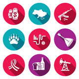 Russia icon set Royalty Free Stock Photography