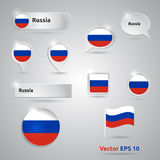 Russia icon set of flags Stock Photos