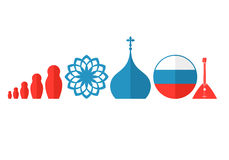 Russia. Icon set Royalty Free Stock Photography