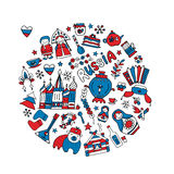 Russia, icons collection. Sketch for your design Royalty Free Stock Image