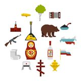 Russia icons set, flat style. Russia icons set. Flat illustration of 16 Russia vector icons for web Vector Illustration