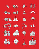 Russia, icons set. Sketch for your design Royalty Free Stock Photos