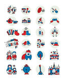 Russia, icons set. Sketch for your design Royalty Free Stock Images