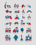 Russia, icons set. Sketch for your design Royalty Free Stock Photo