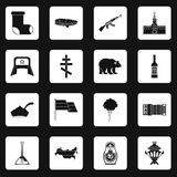 Russia icons set squares vector Royalty Free Stock Image