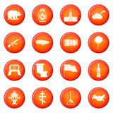 Russia icons vector set Royalty Free Stock Image