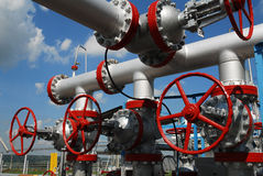 Russia. Installation unit on oilfield Royalty Free Stock Photo