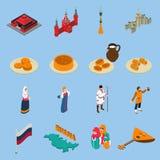 Russia Isometric Touristics Icons Set Stock Photos