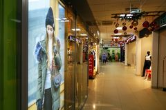 Russia-2 January 2018. Shopping center. Russia-2 January 2018. Shopping center Empty corridors Royalty Free Stock Photography