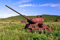 Russia. Japan sea tank 3 Royalty Free Stock Photos