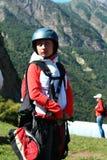 Russia.In Kabardino-Balkaria.Chegem.a paraglider.paragliding. Royalty Free Stock Photos