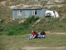 Russia.Kabardino-Barkar Republic. Chegem.paradrome. where dreams come true, flights over the earth !!! Stock Photo