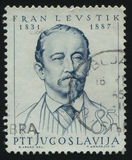 Fran Levistik. RUSSIA KALININGRAD,12 NOVEMBER 2016: stamp printed by Yugoslavia, shows the portrait of Fran Levistik, circa 1965 Royalty Free Stock Photography