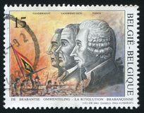 Brabant Revolution printed by Belgium. RUSSIA KALININGRAD, 26 OCTOBER 2015: stamp printed by Belgium, shows Brabant Revolution, circa 1992 Stock Photography