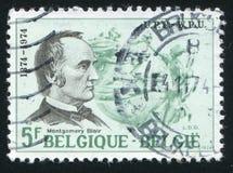 Montgomery Blair printed by Belgium. RUSSIA KALININGRAD, 19 OCTOBER 2015: stamp printed by Belgium, shows Montgomery Blair, UPU Emblem, circa 1974 stock photos