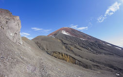 Russia, Kamchatka. Avacha volcano on the background of bright blue sky Royalty Free Stock Photography