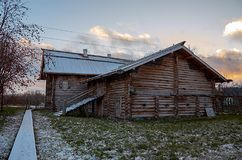 Russia. Petrozavodsk. Sheltozero Veps Ethnographic Museum named after R. P. Lonin. November 15, 2017. Russia. Karelia. Petrozavodsk. Sheltozero Veps Ethnographic Stock Images