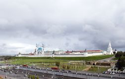 Russia ,Kazan, Kremlin. On 15 September 2016 the Kazan Kremlin — the oldest part of Kazan, a complex of architectural, historical and archaeological sites Stock Images