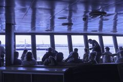 Passenger lounge of the ferry Royalty Free Stock Photo