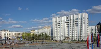 Khabarovsk - may 2019: the Central square of the city. Russia. Khabarovsk - may 2019: the Central square of the city royalty free stock photos