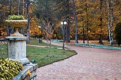 Russia. Kislovodsk. The resort park in Kislovodsk. Russia. Stavropol region. Kislovodsk. The resort park in Kislovodsk stock photo
