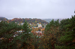 Russia. Kislovodsk. A view of the city from Mount Maloe Saddle. Russia. Stavropol region. Kislovodsk. A view of the city from Mount Maloe Saddle Royalty Free Stock Image