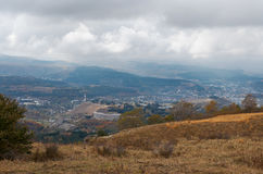 Russia. Kislovodsk. A view of the city from Mount Maloe Saddle. Russia. Stavropol region. Kislovodsk. A view of the city from Mount Maloe Saddle Stock Images