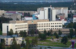 Russia, Kogalym, Western Siberia. 25 August 2015 Western Siberia ,Kogalym — city of district subordination in the Khanty-Mansi Autonomous district, a railway Royalty Free Stock Photography