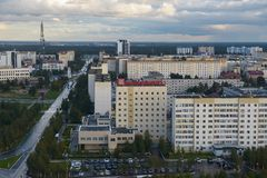 Russia, Kogalym, Western Siberia. 25 August 2015 Western Siberia ,Kogalym — city of district subordination in the Khanty-Mansi Autonomous district, a railway Stock Photography