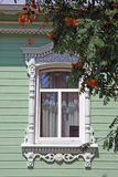 Russia. Kolomna. Travel in Russia. Kolomna. Old-fashioned window Stock Images