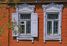 Russia. Kolomna. Travel in Russia. Kolomna. Old-fashioned window Royalty Free Stock Image