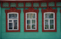 Russia. Kolomna. Travel in Russia. Kolomna. Old-fashioned window Stock Photo