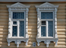 Russia. Kolomna. Travel in Russia. Kolomna. Old-fashioned window Royalty Free Stock Photography