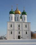 Russia Kolomna city The Cathedral of the Asccension. Historical city Kolomna - one of the oldest russian ciies. The cathedral of Asccension in the downtown Royalty Free Stock Photos