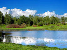 russia krajobrazowy pobliski lato Smolensk Fotografia Royalty Free