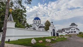 Russia, Krasnodar region. View of the female monastery. In honor of the icon of the Mother of God `Vsetsaritsa`, in Greek - `Pantanassa` - the first monastery stock image