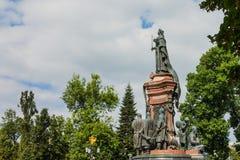 Russia, Krasnodar, September 15, 2015: Monument to Catherine II royalty free stock photos