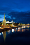 Russia Kremlin and Moscow river Stock Images