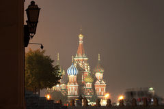 Russia: Kremlin and Red Square. Kremlin, Red Square and russian orthodox church in Moscow by night royalty free stock photos